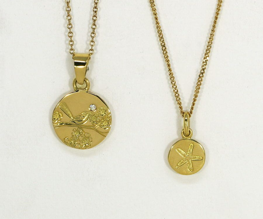 18ct Gold Pendants, in a variety of shapes, sizes and designs