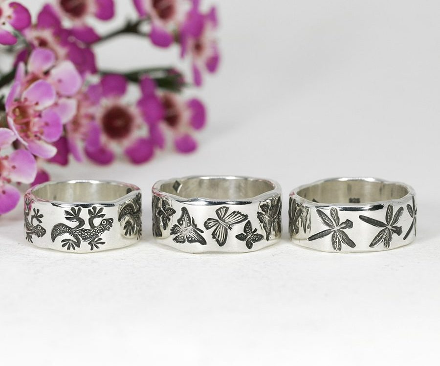 Sterling Silver Rings, Australian Flora & Fauna designs