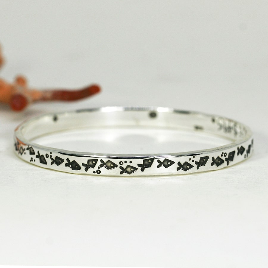 'Funky Fish', narrow bangle