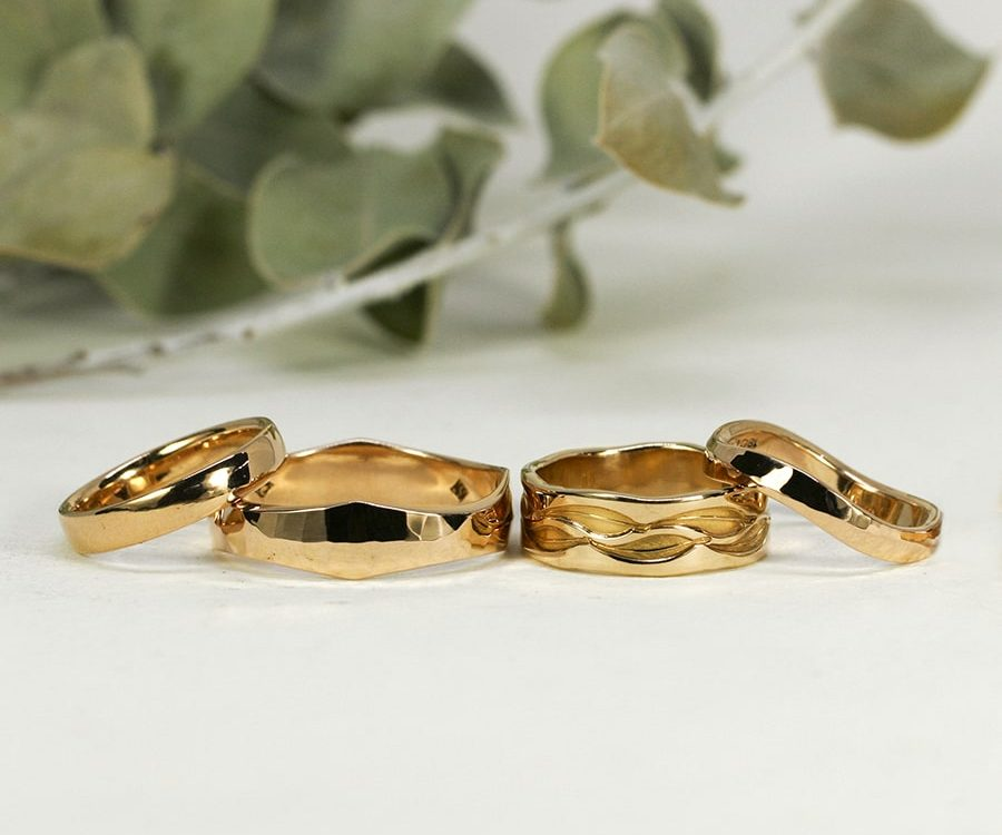 18ct Rose Gold Bands, in a variety of finishes and designs