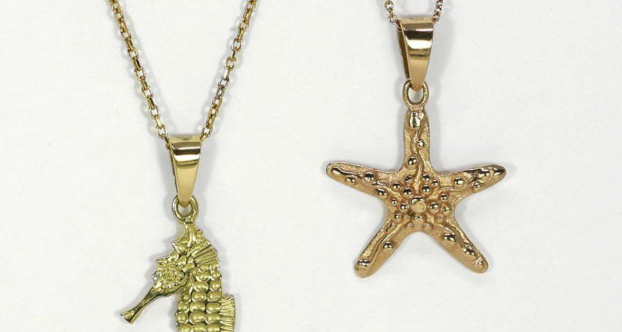 Fused 18ct Gold Pendants