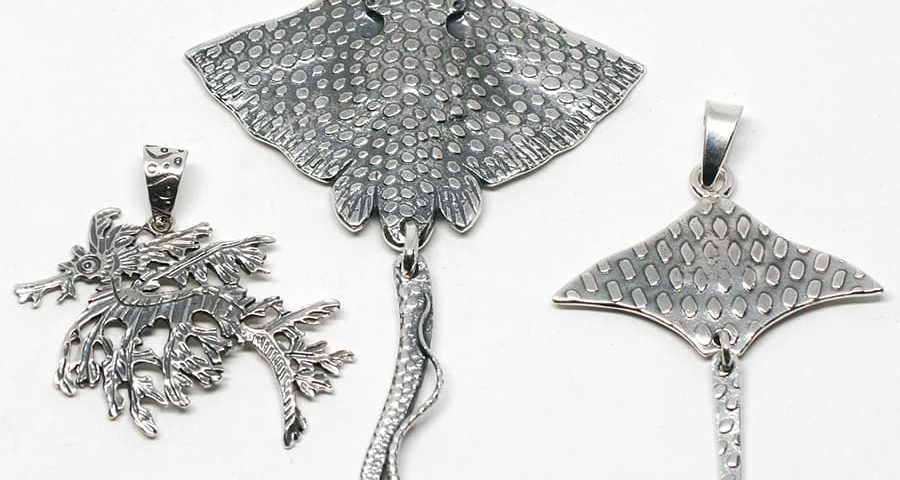 Leafy Sea Dragon, Mantaray & Stingray Pendants