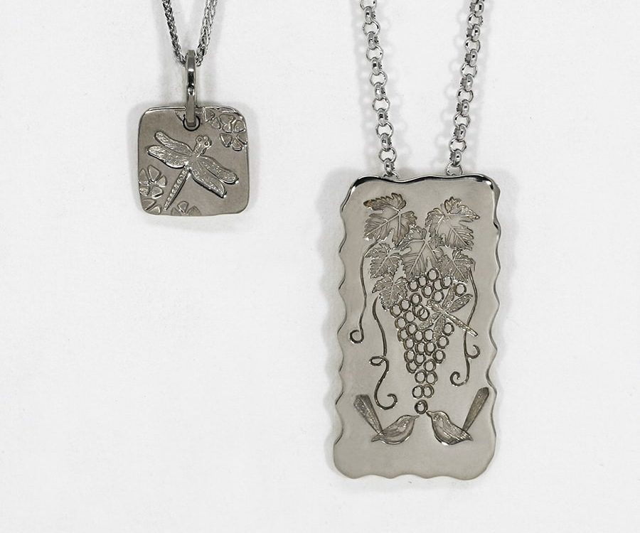 18ct White Gold Pendants, in a range of shapes, sizes and designs