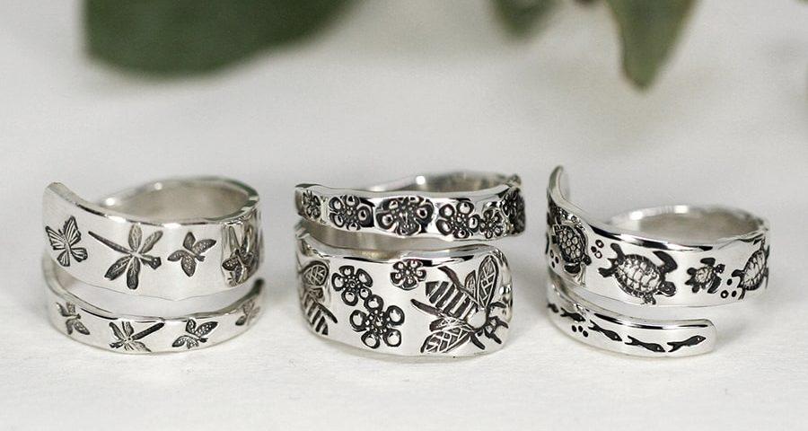 Spiral Rings, vaiety of designs avaiable