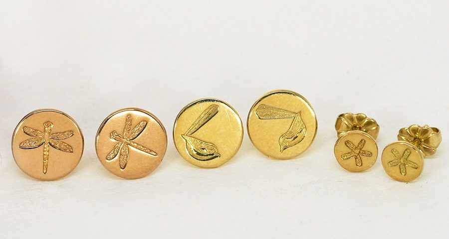 Assorted Gold Stud Earrings