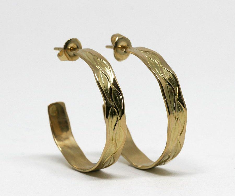 Hoop Earrings, 18ct Gold in a variety of designs
