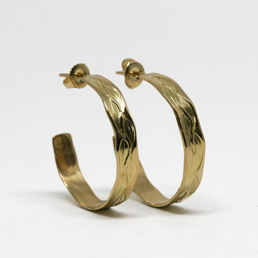 Hoop Earrings, 18ct Gold in a variety of designs