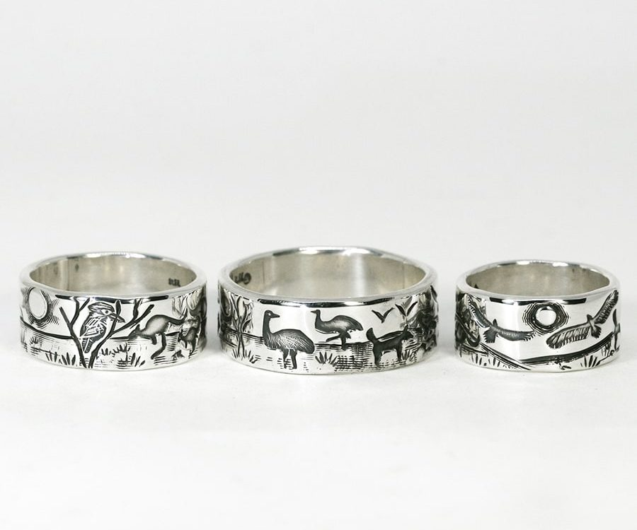 'Outback Story' Rings