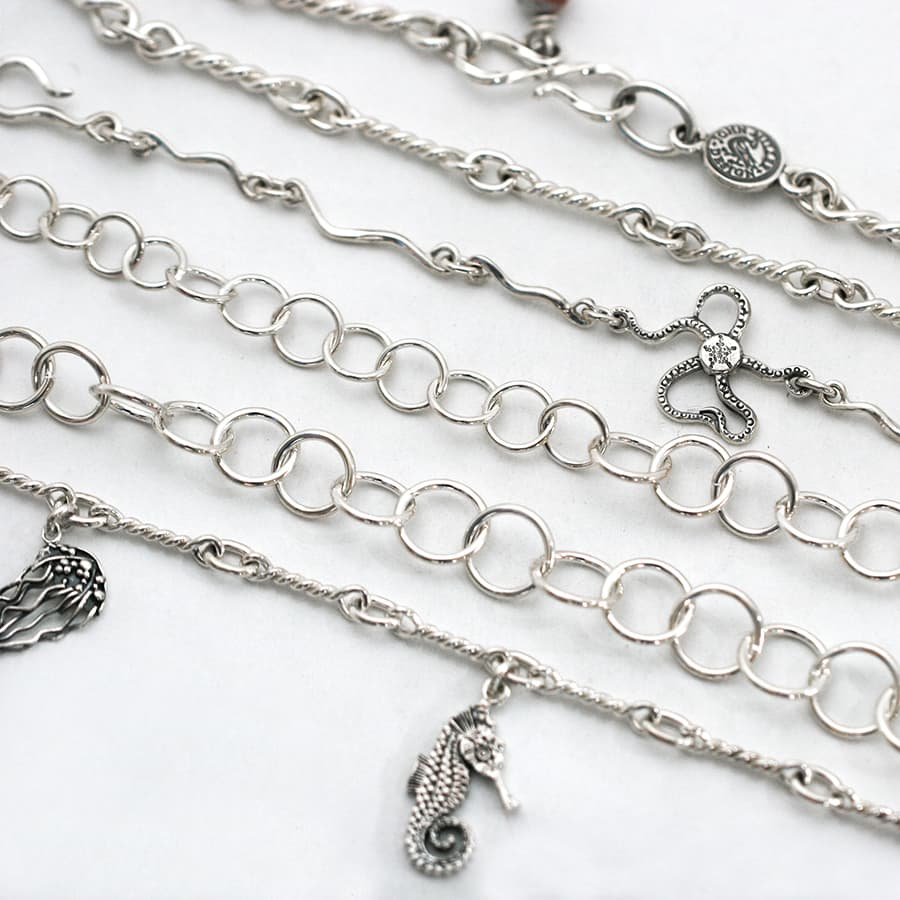 Variety of handcrafted Chains