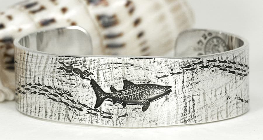 'Whale Shark Dive', with textured finish