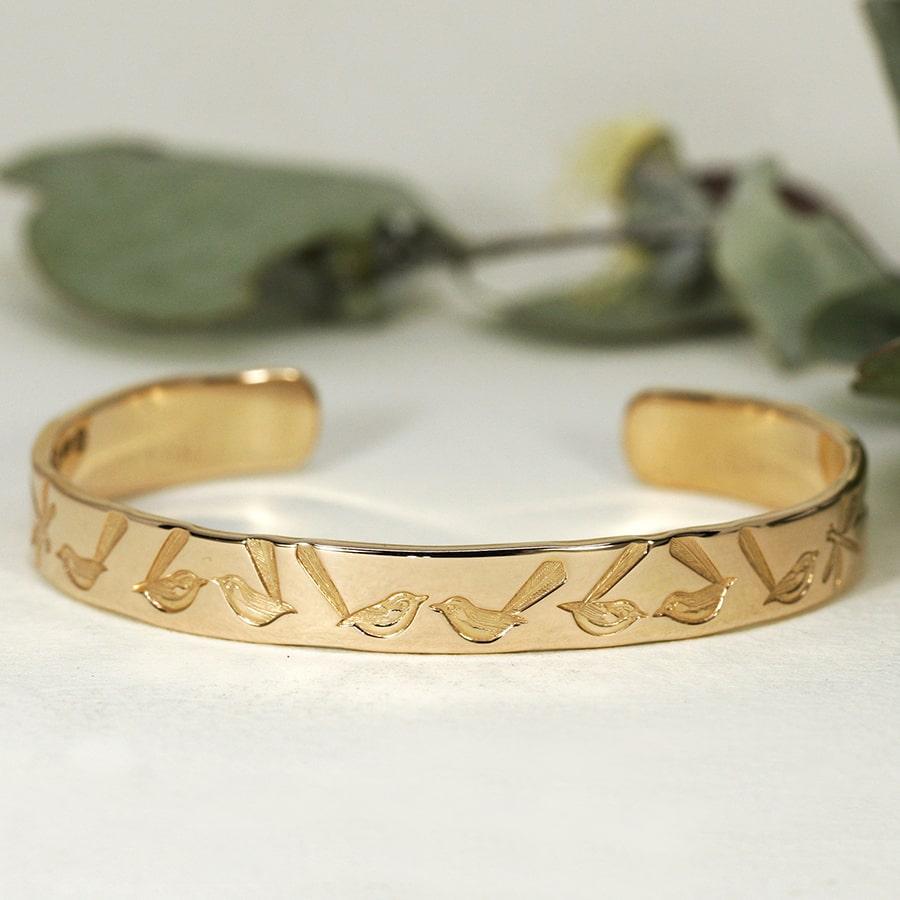 'Wrens in Rose Gold', 18ct Rose Gold Cuff