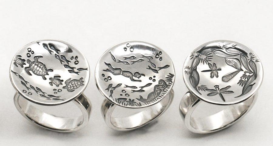 'Raincatcher' Rings, variety of designs