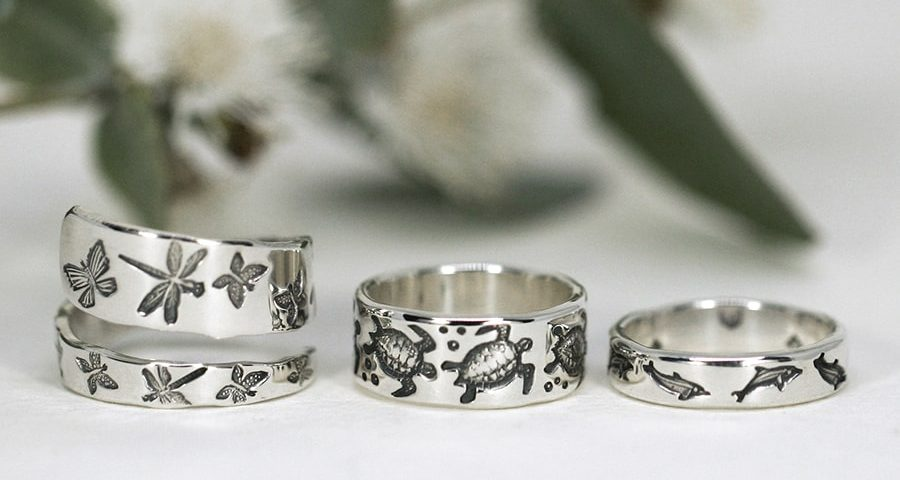 Sterling Silver Rings in a variety of styles and designs