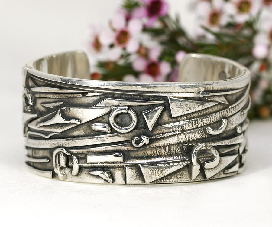11. 'Heavy Metals', fused sterling silver cuff