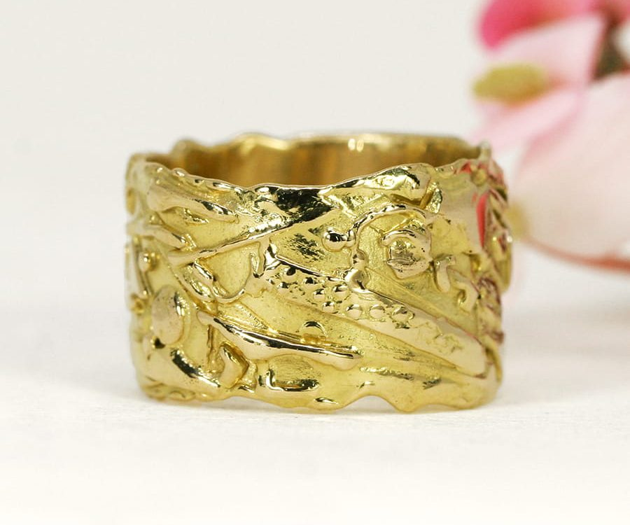 14. 'Organza', 18ct Yellow Gold Fused Ring
