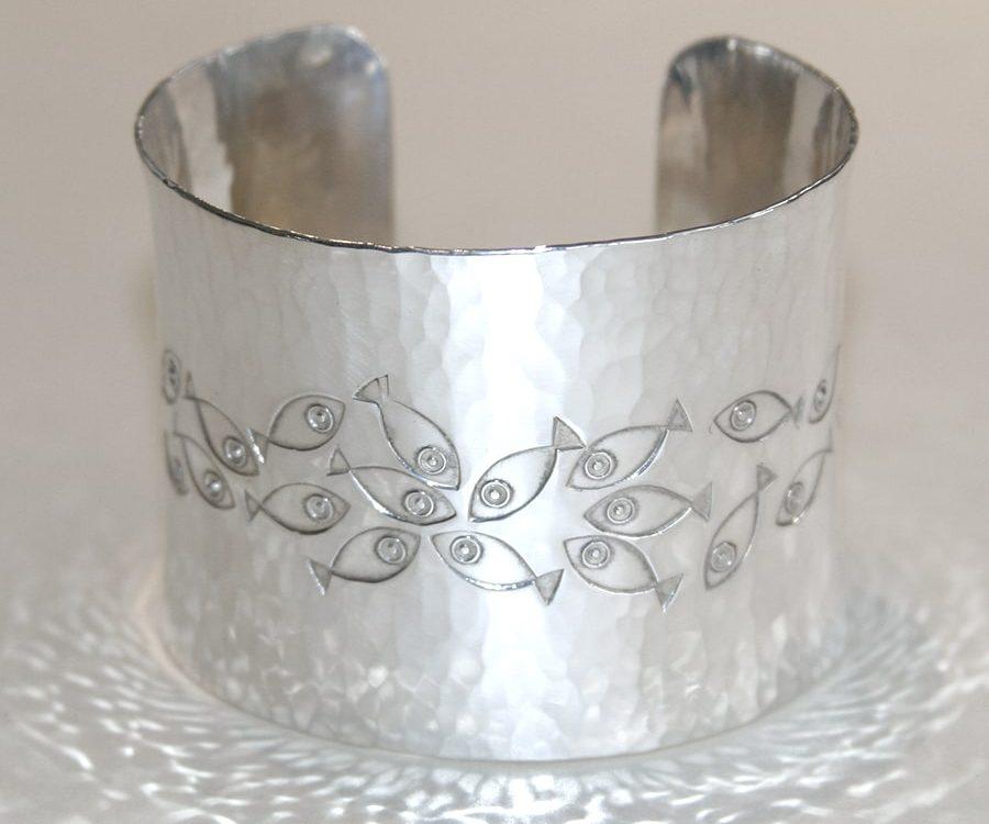 15. Sterling silver wide cuff