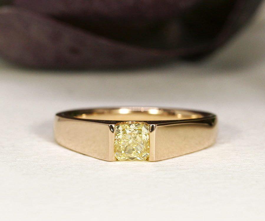 18. 'Rose of Ellendale', 18ct Rose Gold, set with a Flawless 55pt Ellendale Diamond