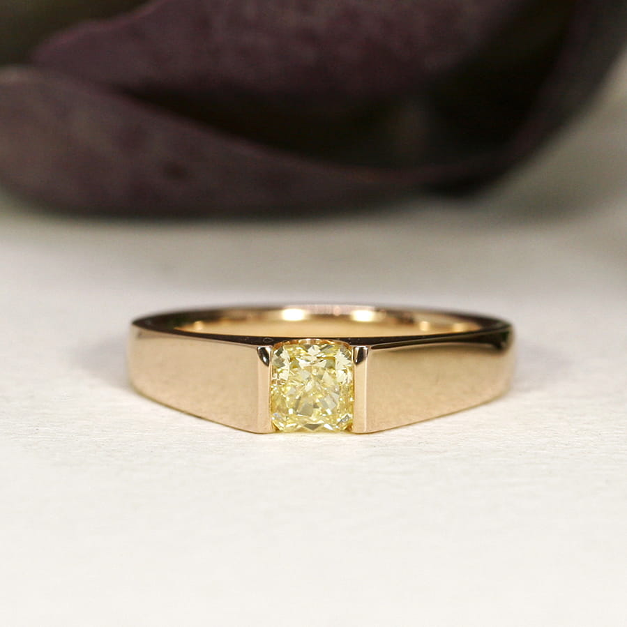 18. 'Rose of Ellendale', 18ct Rose Gold, set with a Flawless 55pt Ellendale Diamond