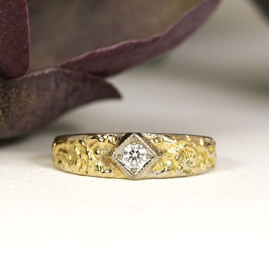 20. 'Star of the South', 18ct White and Yellow gold, set with 11pt Diamond