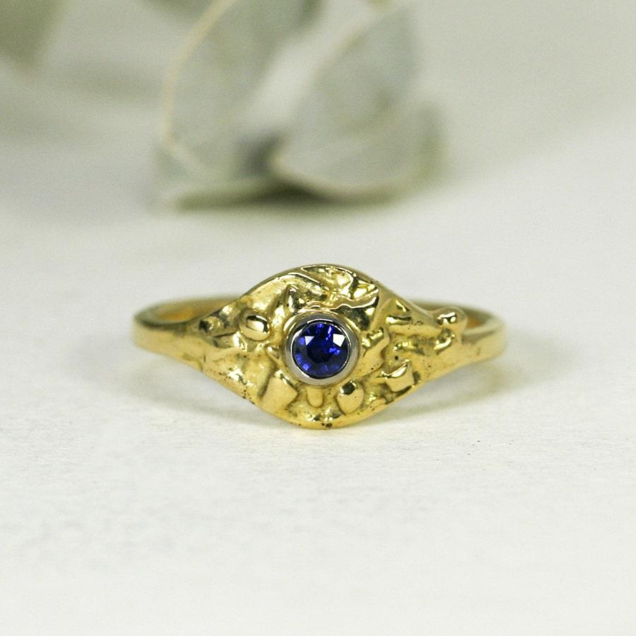 21. 'Azure Blue', 18ct Yellow Gold, set with a 16pt Ceylon Sapphire