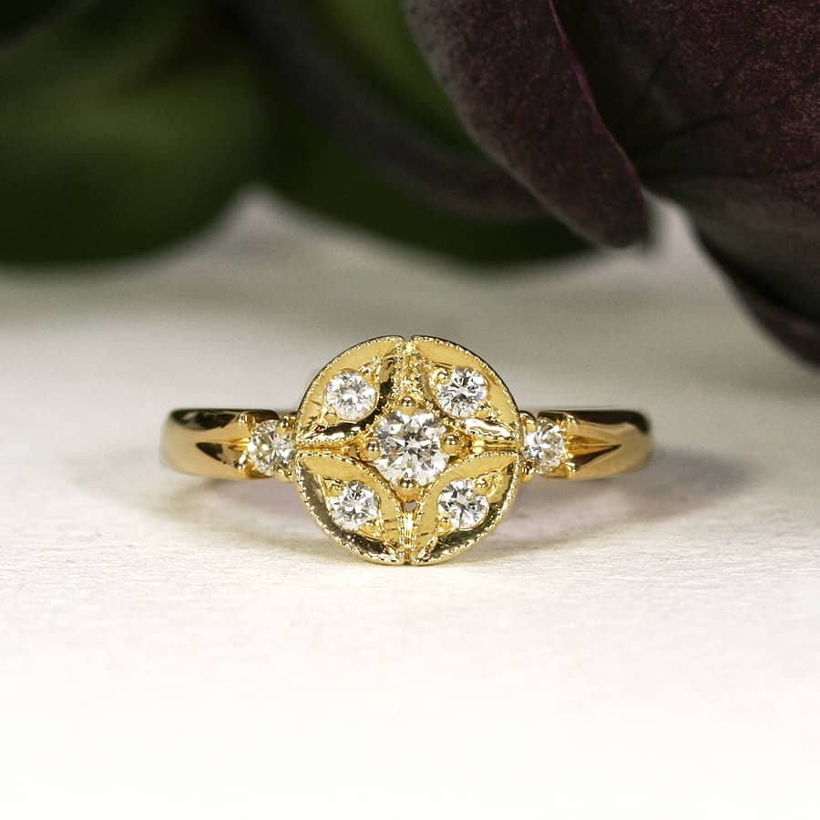 23. 'Summer Stars', 18ct Yellow Gold set with 0.45pts of Diamonds