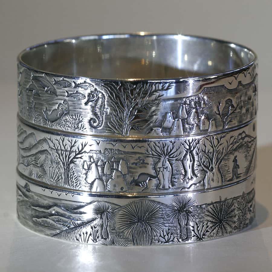 7. Sterling Silver bangle stack