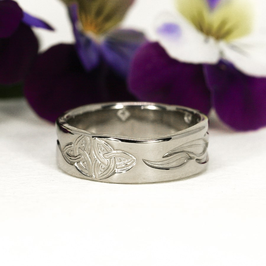 8. 'The Celtic Australian', 18ct White Gold band