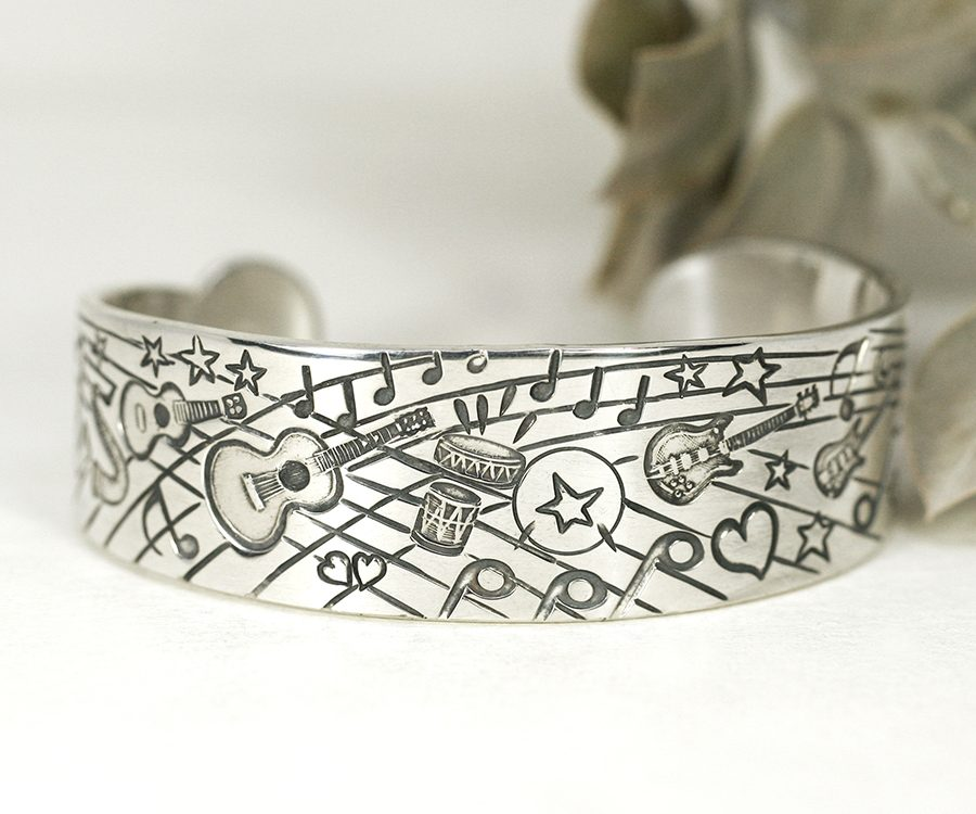 Everything Musical, stamped and hand engraved