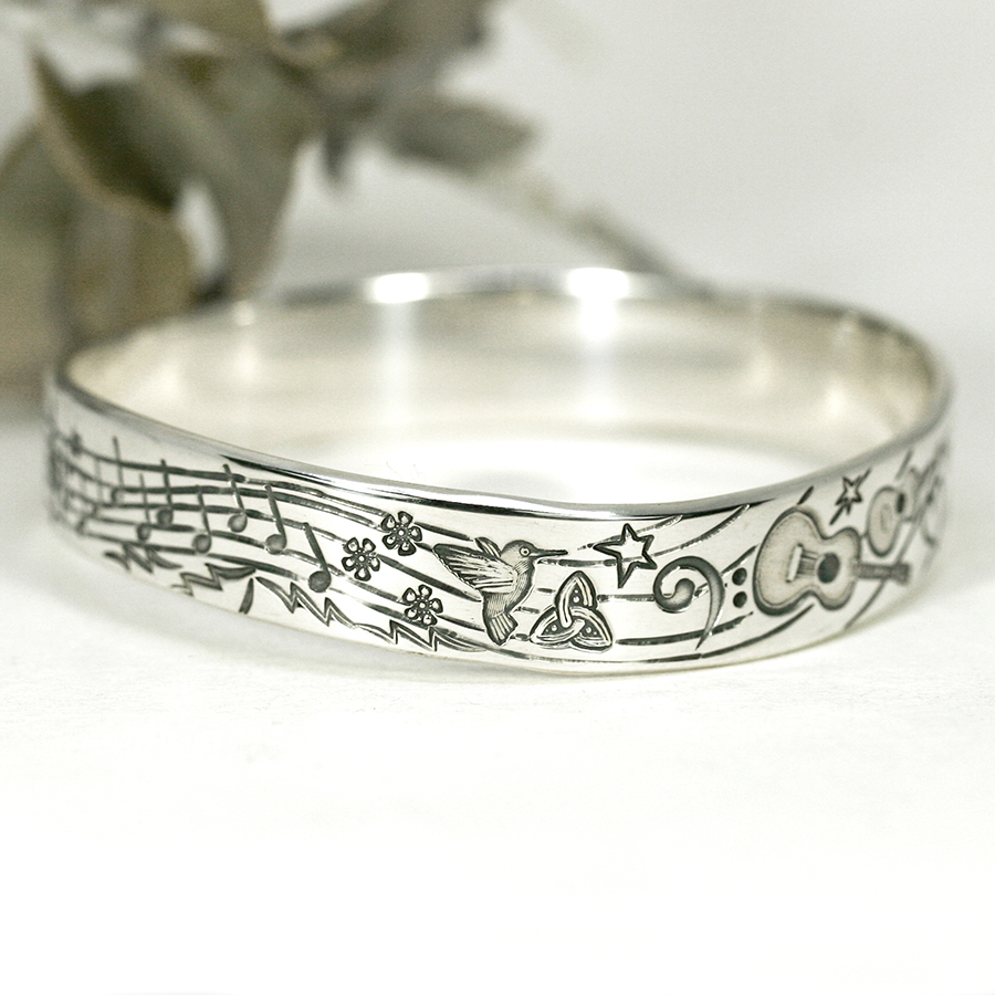 Marvellous Music, stamped and hand engraved