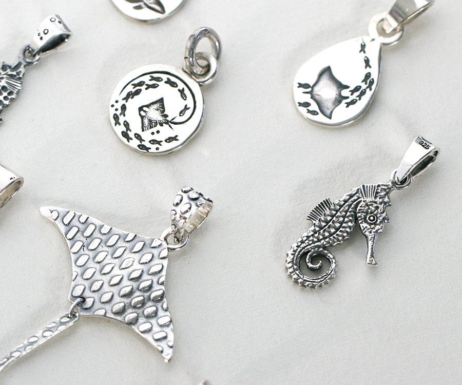Ocean inspired pendants