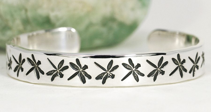 Dragonfly Dream Sterling silver cuff