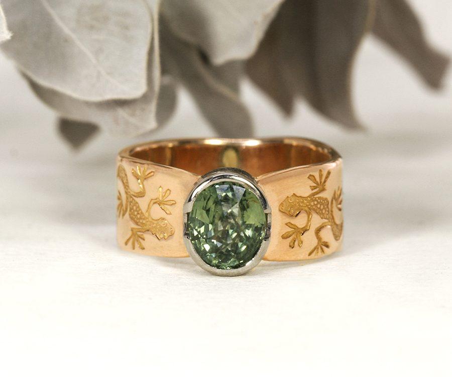 billabong-rose-white-gold-sapphire-gecko's-john-miller-designbillabong-rose-white-gold-sapphire-john-miller-design