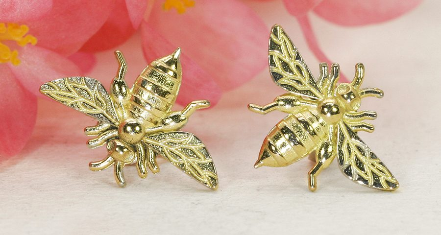 Bee-studs-yellow-gold-john-miller-design