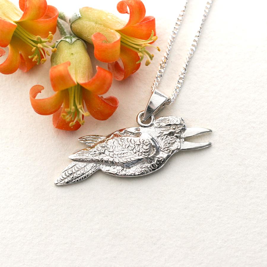 kookaburra pendant fused sterling silver john miller design