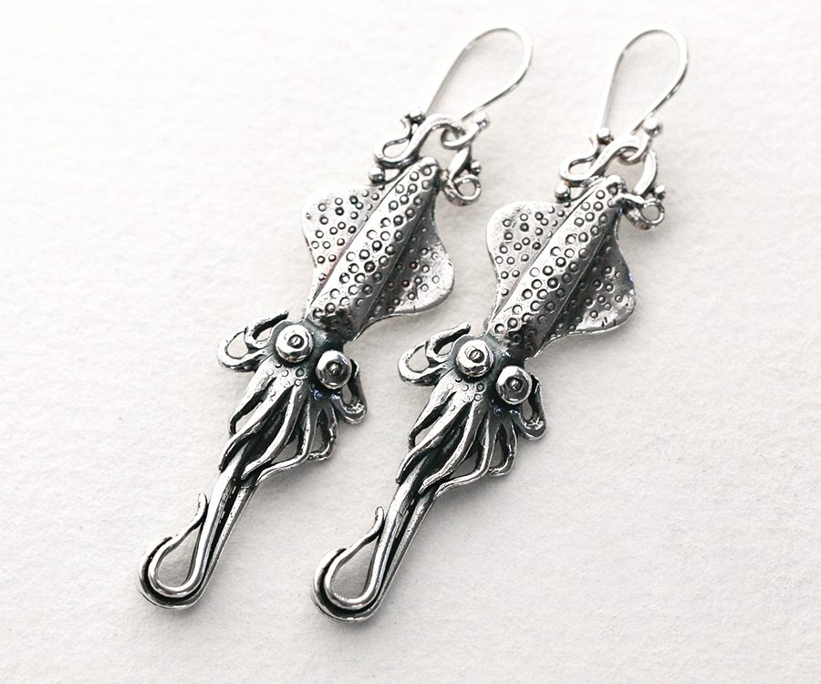 sterling-silver-fused-earrings-squid-john-miller-design