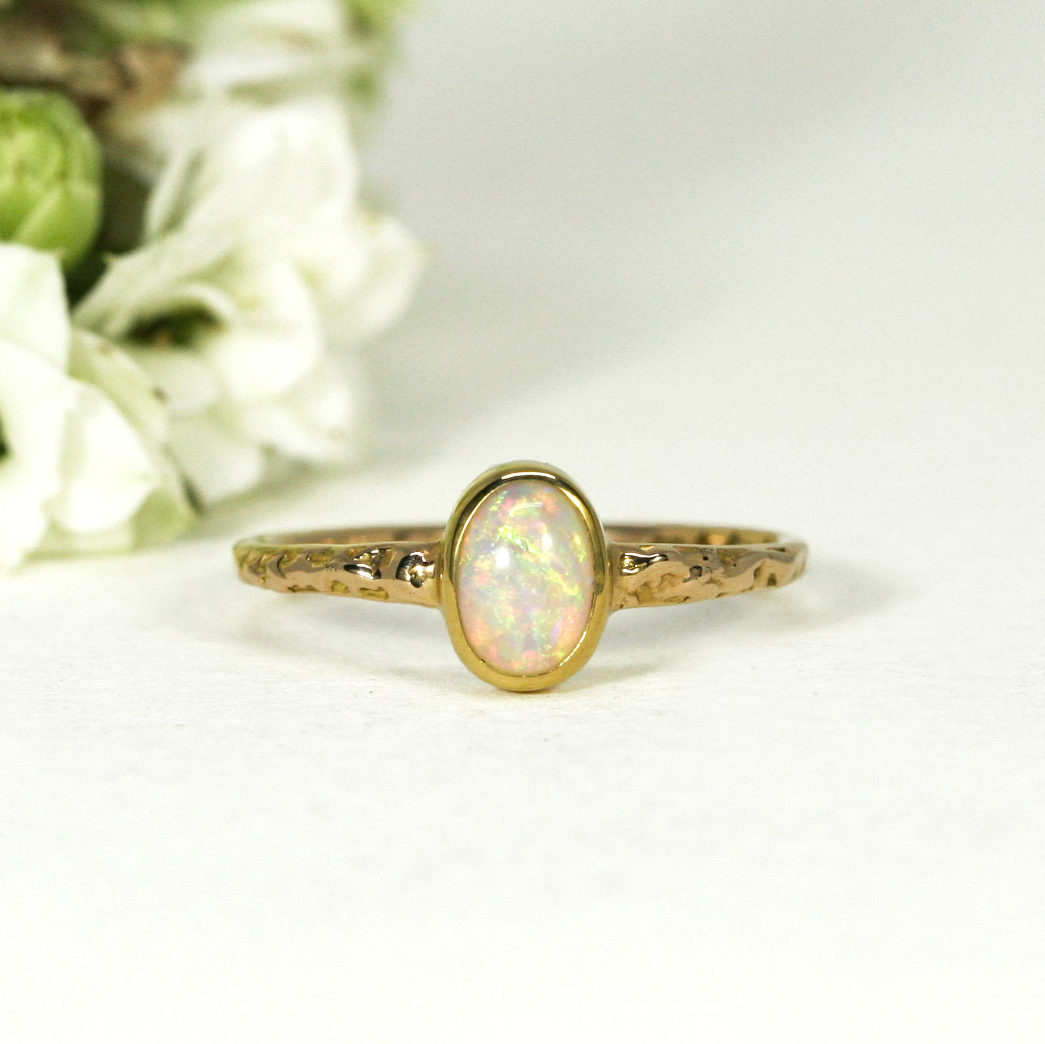 yellow-gold-18ct-ring-opal-Eternal-Sunshine-john-miller-design