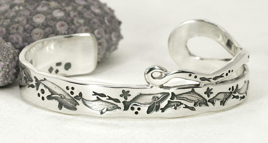 sterling-silver-something-special-cuff-dolpins-john-miller-design