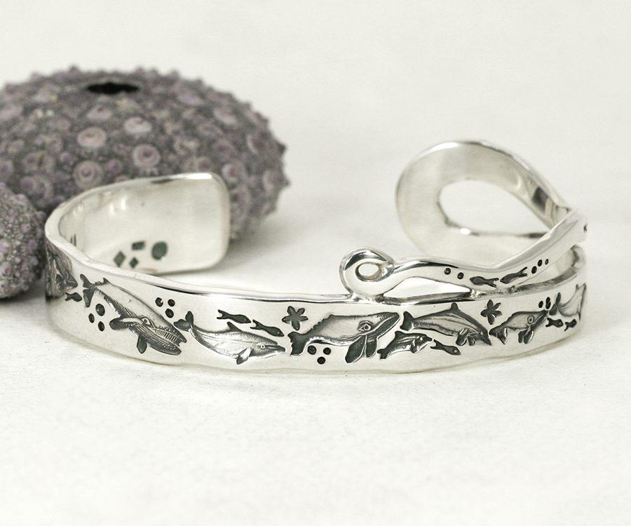 sterling-silver-something-special-cuff-dolpins-john-miller-design
