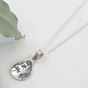 Sterling silver diamond cut curb link chain