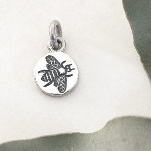 Bee Round Pendant Charm