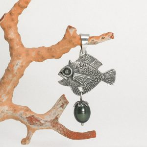 Fish and Pearl Pendant