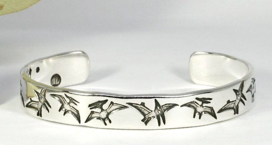 Ptero Territory sterling silver pterodactyl cuff